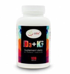 Witamina D3 2,000IU + K2-MK7 100mcg 120 tab D045+K2