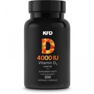 KFD Vitamin D3 4000 iu - 200 kaps (witamina d3 w oleju MCT)