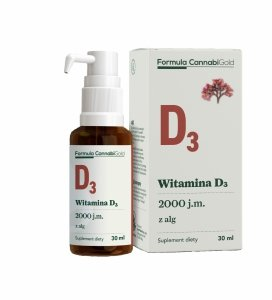 HemPoland CannabiGold Witamina D3 z alg 2000 IU 30 ml