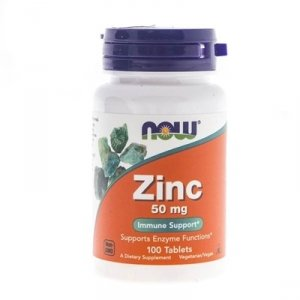 Now Foods Zinc (Cynk) 50 mg 100 tabl