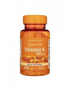 Vitamin K 100mcg 100tabs Puritan's Pride