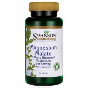 Swanson Jabłczan magnezu 60 tab