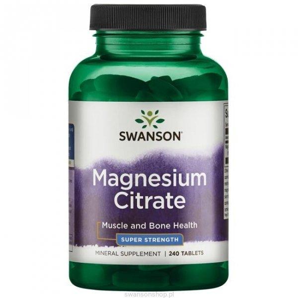 Swanson Cytrynian Magnezu 240 tab SWU1082