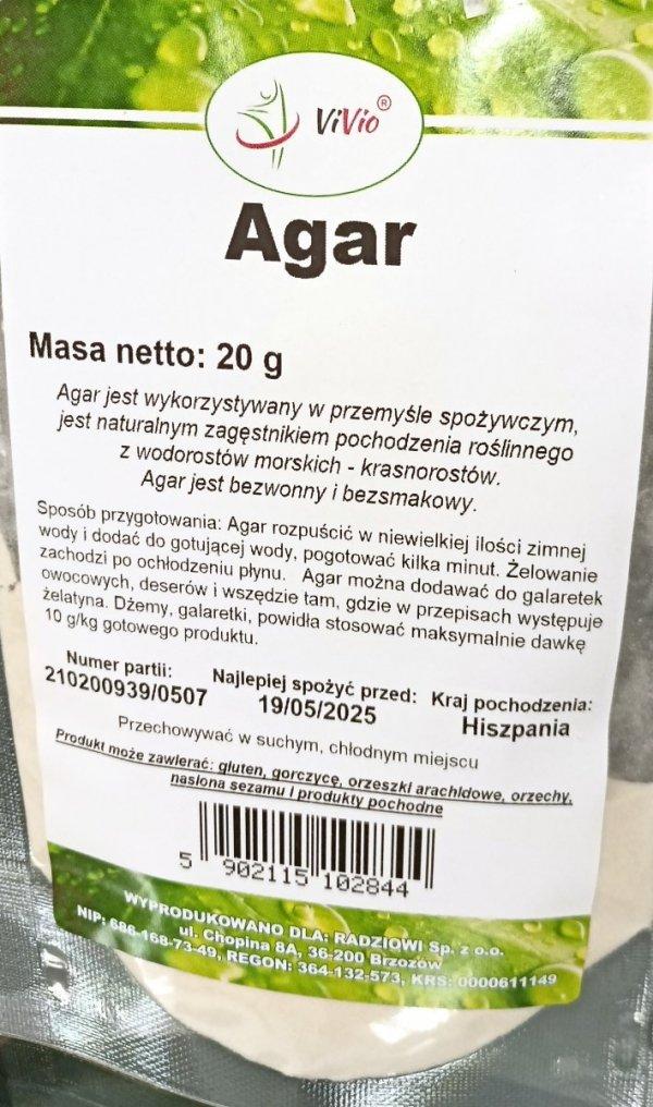 Vivio Agar 20g
