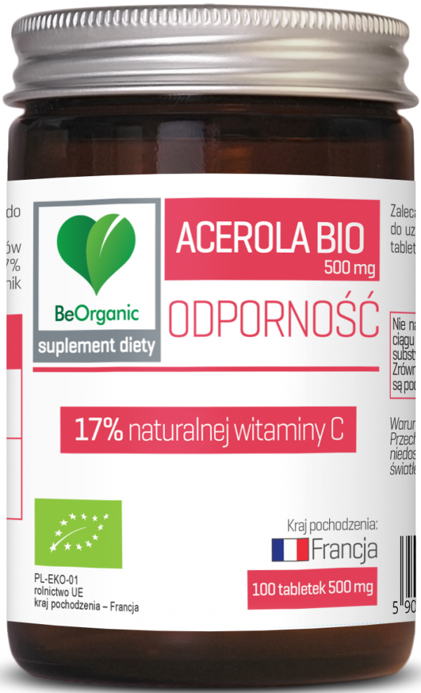 Acerola BIO 17% witaminy C, 500mg x 100 tabletek