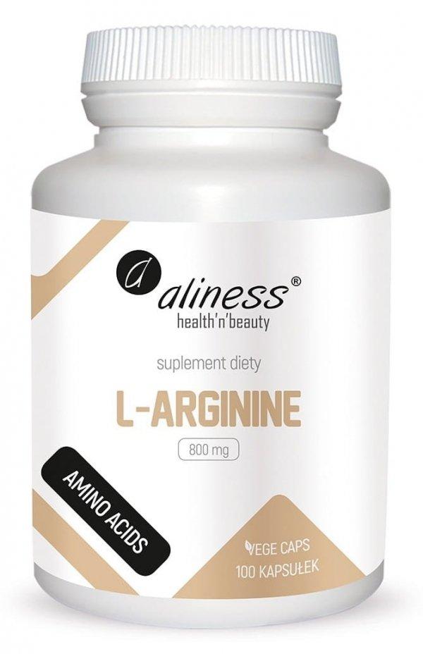 L-Arginine 800 mg x 100 Vege caps Aliness