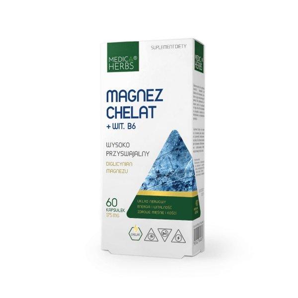 Medica Herbs Magnez Chelat + Wit. B6