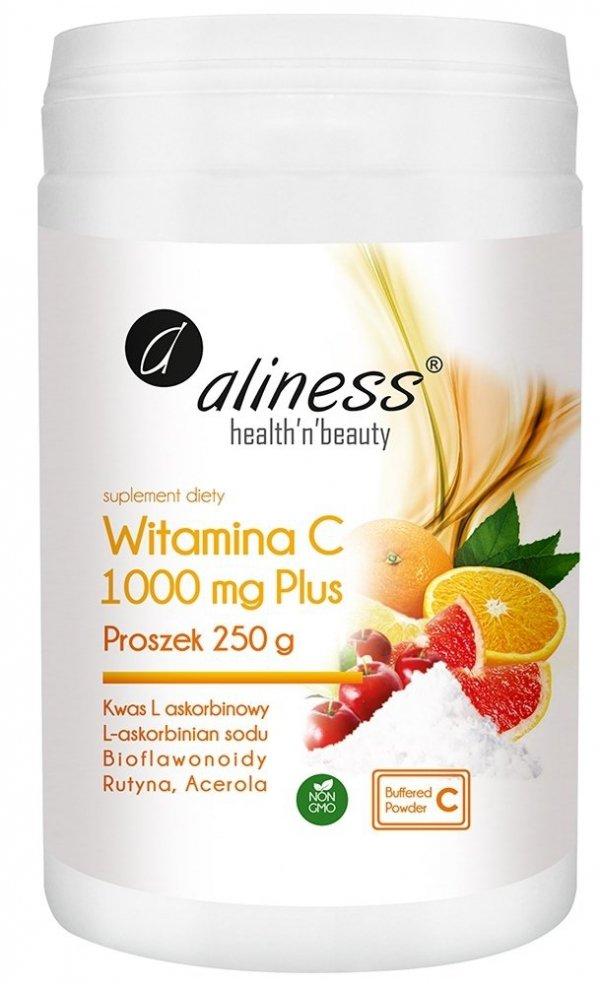 Aliness Witamina C 1000 Buforowana Plus Proszek 250 g (z miarką)