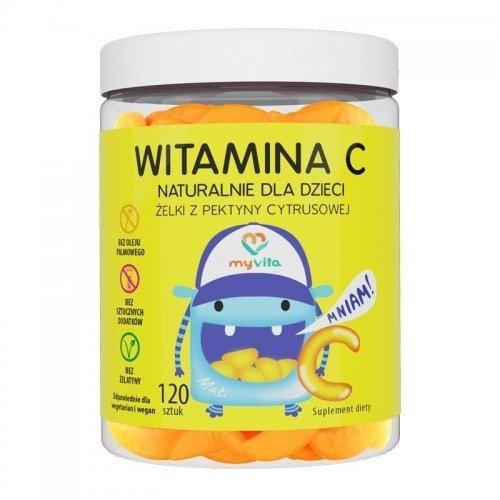WITAMINA C Naturalne żelki z pektyny cytrusowej 120 sztuk MyVita
