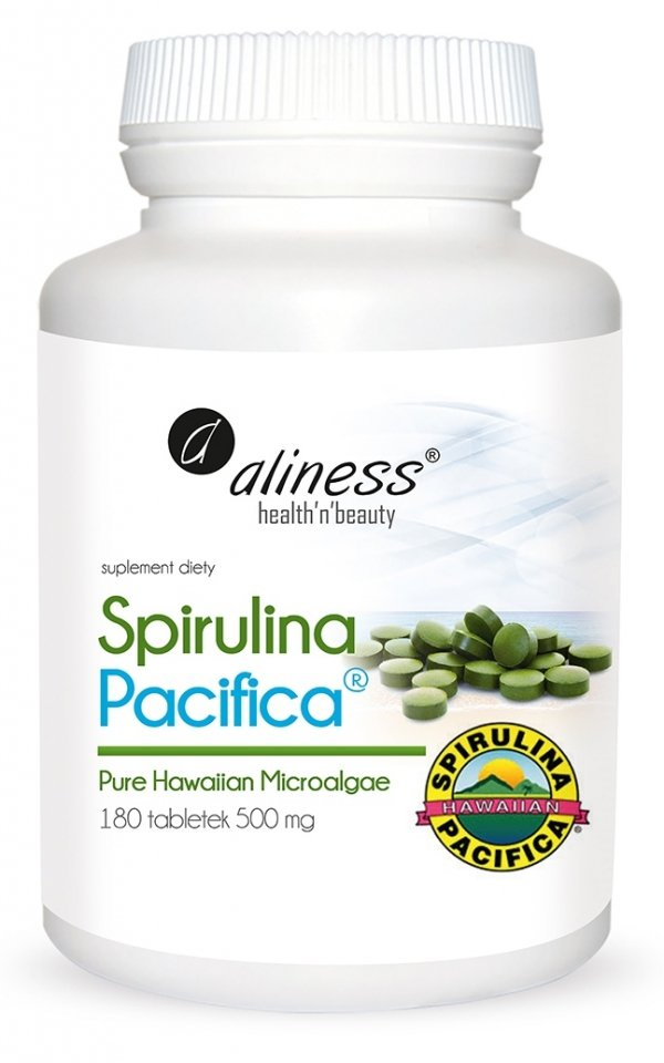 Spirulina Hawajska Pacyfica® x 180 tabletek Aliness
