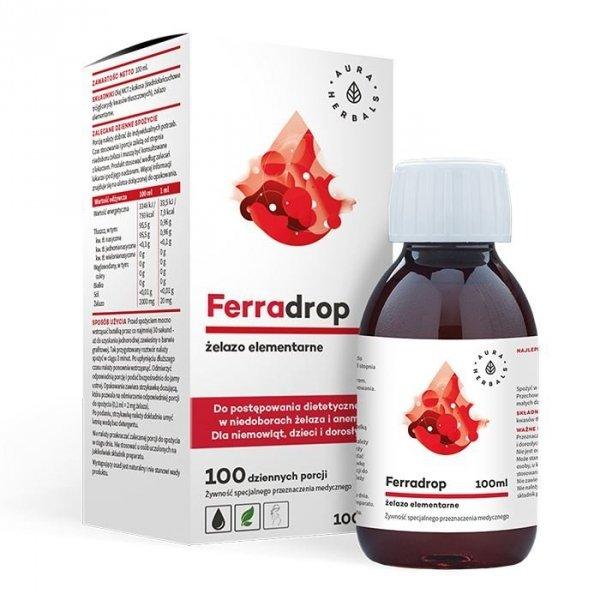 Ferradrop - żelazo elementarne (zawiesina), płyn 100 ml