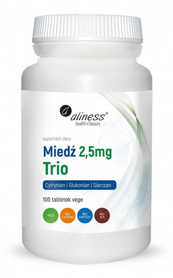 Miedź trio 2,5 mg x 100 vege Aliness