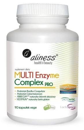 Multi Enzyme Complex Pro 90 kapsułek vege Aliness