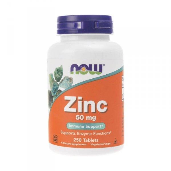 Now Foods Zinc (Cynk) 50 mg 250 tabl