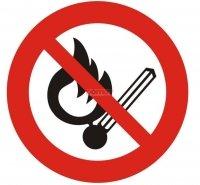 Naklejka - Zakaz używania ognia