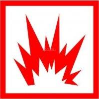 Naklejka - Zagrożenie wybuchem