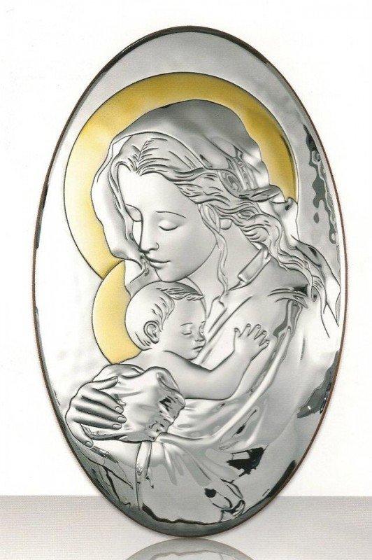 GRAWER SREBRNY OBRAZEK Maryja Chrzest Rocznica