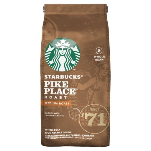 STARBUCKS PIKE PLACE MEDIUM ROAST W ZIARNACH 200g