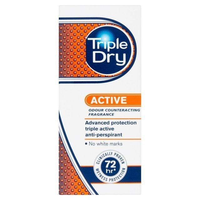 TRIPLE DRY ACTIVE PROTECT Roll-on- kulka dla mężczyzn 50ml - nadpotliwość0