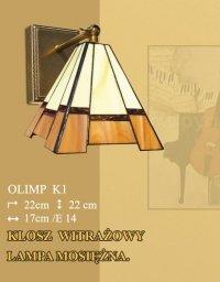 Lampa ścienna kinkiet witraż OLIMP K1