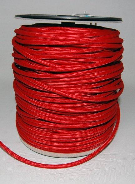 Kabel w oplocie 2x0,75 kolor czerwony