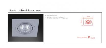 Wpust halogenowy Fasto I alluminio Orlicki Design