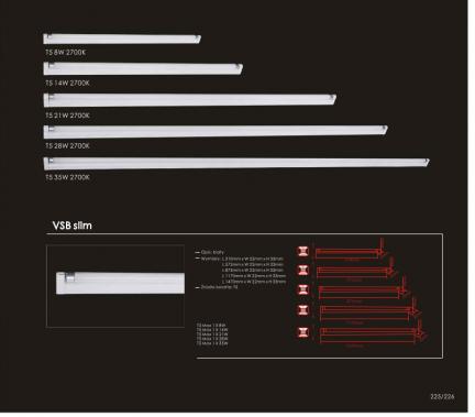 Oprawy świetlówkowe VSBSlim1x21W2700K Orlicki Design