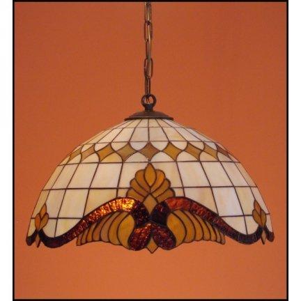 Żyrandol witrażowy   Classic z karem średnica 40cm Baro