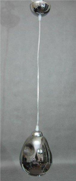 Lampa pojedyncza żyrandol zwis klosz szklany