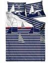 Pościel marynistyczna satynowa GRENO 220x200, 200x200 lub 180x200 wz. Sea Stories