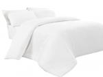 Poszwa biała hotelowa NORIS 160x200 100% bawełna na zakład