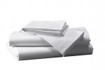 Prześcieradło białe hotelowe NORIS 160x240 100% bawełna