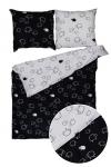 Pościel 220x200 BARANKI, 100% bawełna, wz. czarno-biały