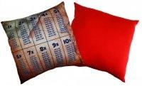 Poduszka matematyczna 40x40 wz. 04/czerwony