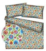 Poszewka 40x40 - KORA bawełniana wzór Łowickie Kwiaty