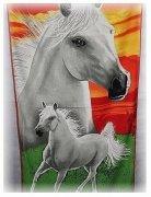 Ręcznik plażowy Konie 2 - rozmiar 70x148