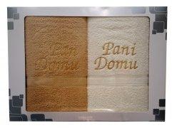 Komplet ręczników Pan i Pani domu kolor beż - ecru