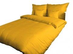 Pościel satynowa DARYMEX 220x200, 200x200 lub 180x200  - Żółtko 004