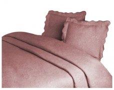 Narzuta GRENO Żakardowa na łóżko 220x260 wz.  FLOWER bordo