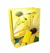 Ozdobne opakowanie, torebka na prezent 12x14cm wz. Flower 001