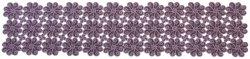 Obrus FLAMENCO 20V 85x85 haftowany, kolor: fioletowy