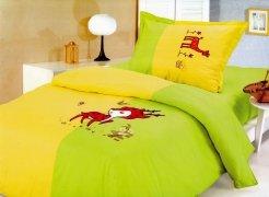Pościel dziecięca haftowana 100% bawełna 160x200  wzór 235