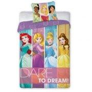 Pościel licencyjna Disney 100% bawełna 160x200 lub 140x200 KSIĘŻNICZKI- PRINCES 041