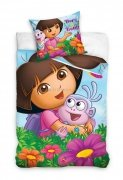 Pościel licencyjna Dora pięć dziewczynek 100% bawełna 160x200 lub 140x200 - wz. DOR162001