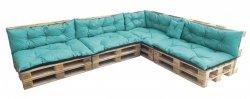 Duży komplet poduszek ogrodowych na palety wz. Turkus
