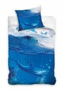 Pościel młodzieżowa 100% bawełna 160x200 lub 140x200 - Delfin NL161001