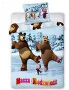 Pościel licencyjna Disney 100% bawełna 160x200 lub 140x200 MASHA I NIEDŹWIEDŹ 016