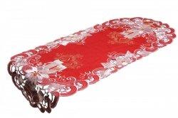 Obrus Świąteczny Boże Narodzenie wz. BN 8963/R, rozmiar 30x45cm Kolor: czerwony