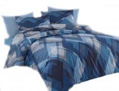 Pościel bawełniana Premium DARYMEX kolekcja Exclusive 160x200 lub 140x200 + 2x70x80 wz. Mosaic Blue