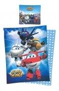 Pościel licencyjna Disney 100% bawełna 160x200 lub 140x200 wz. Super Wings 07